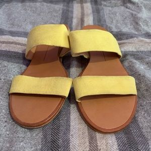 Yellow Slide Sandals